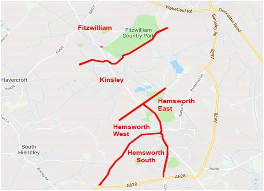 Hemsworth ward map